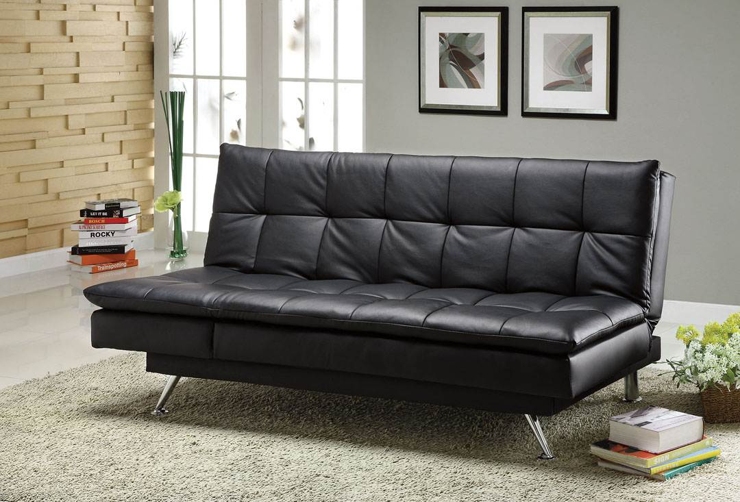 Superb Gb2750 Marly Black Leatherette Sofa Bed Factory Less Caraccident5 Cool Chair Designs And Ideas Caraccident5Info